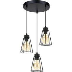 britop lighting hanglamp »orazio pendelleuchte 3xe27 60w«, zwart