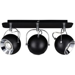 spot light plafondlamp »ball deckenleuchte incl. 3xgu10 led 5w«, zwart