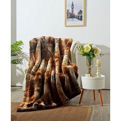 deken »zobel«, star home textil bruin