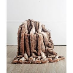 deken »nutria«, star home textil bruin