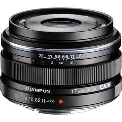 olympus groothoekobjectief m.zuiko digital 17 mm f1.8 zwart