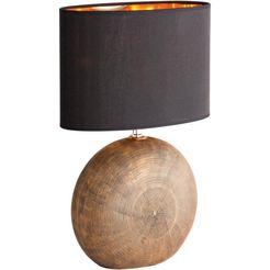 fischer  honsel tafellamp »foro«, bruin