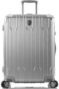 heys hardshell-trolley »xtrak, 66 cm, silber« zilver