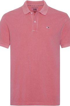 tommy jeans poloshirt »tjm essential garmet dye polo« roze