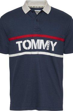 tommy jeans poloshirt »tjm chest logo tee« blauw