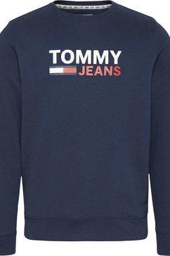 tommy jeans sweatshirt »tjm corp logo crew« blauw