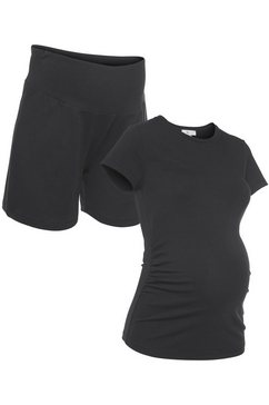 neun monate zwangerschapsset powered by flashlights broek en shirt (set) zwart