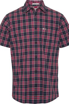tommy jeans overhemd met korte mouwen »tjm shortsleeve check shirt« rood