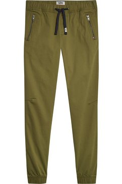 tommy jeans jogpants »tjm scanton dobby jog pant« groen