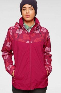 maier sports regenjack »flowerjacket« rood