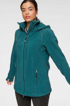 polarino fleece-jack met staande kraag blauw