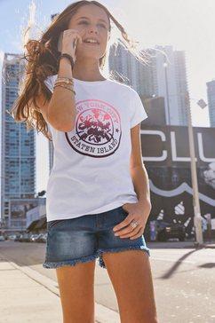 kidsworld t-shirt new york print in verlopende kleuren wit