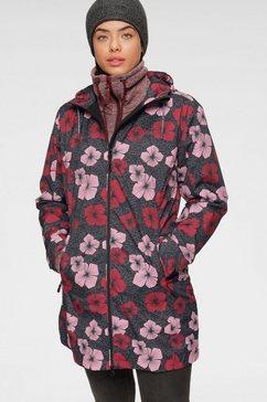 maier sports regenjack »flowercoat« grijs