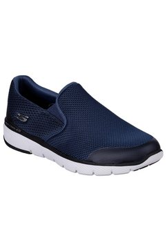 skechers slip-on sneakers »morwick« blauw