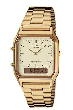 casio vintage chronograaf »aq-230ga-9dmqyes« goud