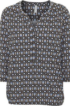 soyaconcept shirt met print »felicityaop259« blauw