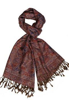 silvio tossi sjaal met franjes multicolor