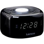 lenco wekkerradio »cr-12bk (fm-tuner) zwart