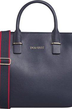 tommy hilfiger tas »tommy staple satchel« blauw