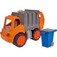 big speelgoed-vuilniswagen oranje