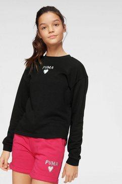 puma sweatshirt »alpha crew sweat« zwart