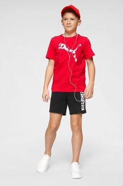 puma t-shirt »tee boys« rood