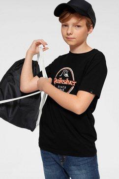 quiksilver t-shirt »words remain« zwart