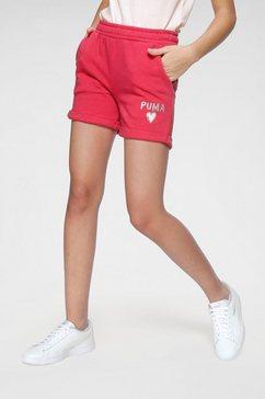 puma sweatshort »alpha shorts« roze
