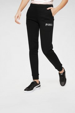 puma joggingbroek »alpha sweat pants« zwart