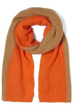 tom tailor denim modieuze sjaal »zweifarbiger schal« bruin