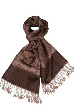 silvio tossi sjaal van hoogwaardig materiaal bruin