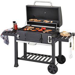 konifera houtskoolbarbecue »belcarra xxl«, bxdxh: 142x64x113 cm, 2-dlg. grillrooster zwart