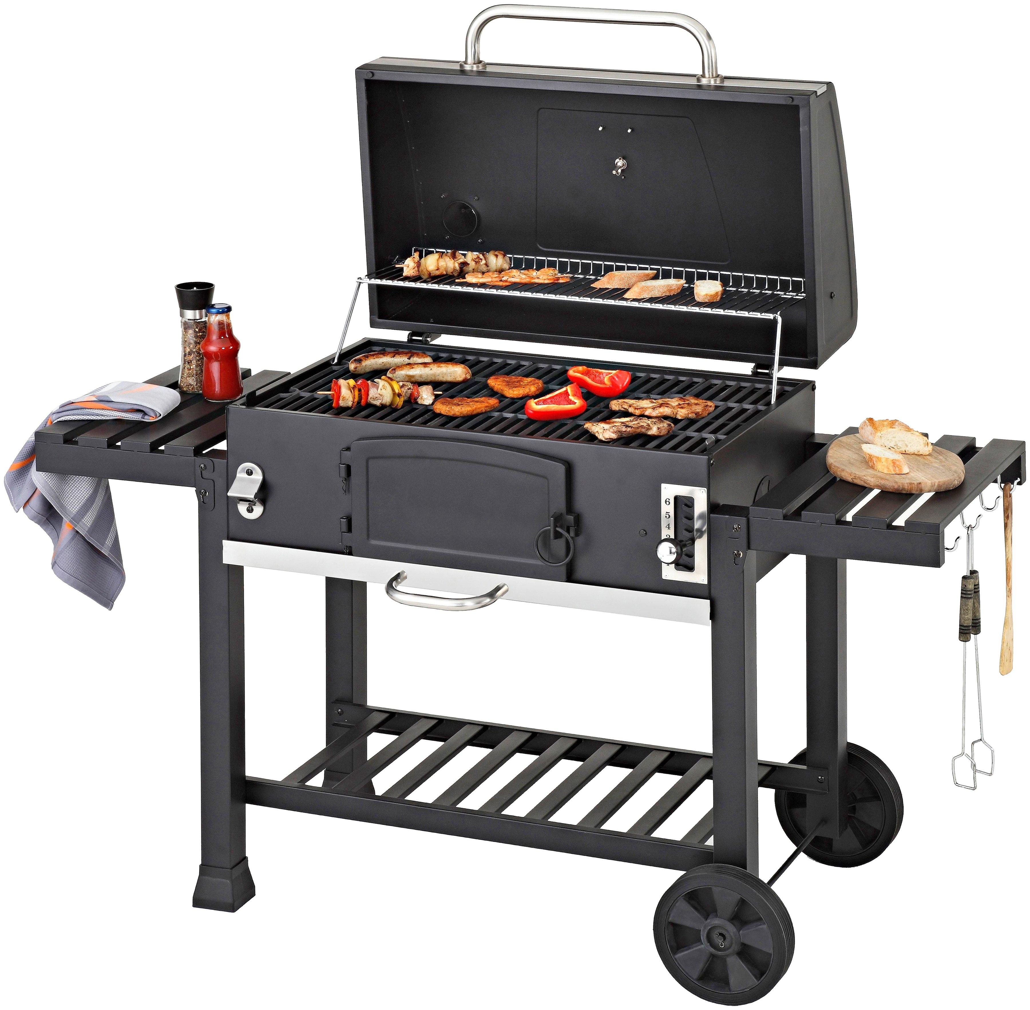 Konifera Houtskoolbarbecue »Belcarra XXL«, BxDxH: 142x64x113 cm, 2-dlg. grillrooster nu online bestellen