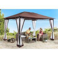 konifera los dak voor tuinprieel »stil«, 300x300 cm, cappuccino bruin