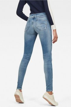 g-star raw skinny fit jeans »lynn d-mid waist super skinny« blauw