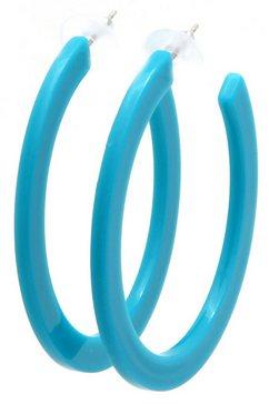 j.jayz oorringen »offene creolen im acryl-design« blauw