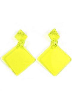 j.jayz oorstekers »in quadratischer form, neon« geel