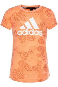 adidas performance functioneel shirt »jouth girls must have mesh tee« oranje