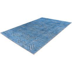 me gusta vloerkleed »antique 300«, me gusta, rechthoekig, hoogte 6 mm, machinaal geweven blauw
