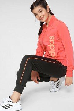 adidas performance trainingspak »youth girl tracksuit« zwart