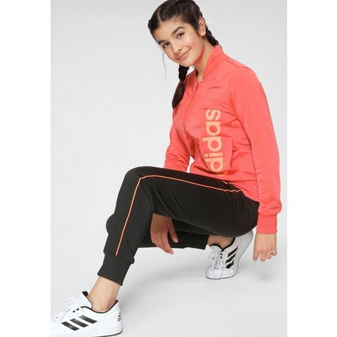 adidas performance trainingspak zwart-koraalrood-oranje
