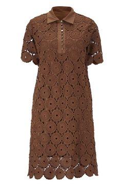 kanten jurk bruin