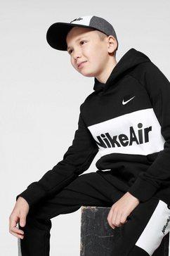 nike sportswear hoodie »nike air big kids boys pullover hoodie« zwart