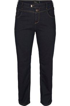 zizzi straight jeans »gemma« blauw