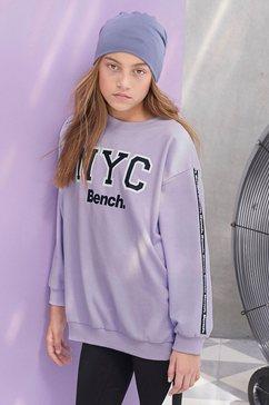 bench. sweatshirt oversized - met logoprint op de mouw paars