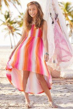 arizona jurk, voor kort en achter lang multicolor