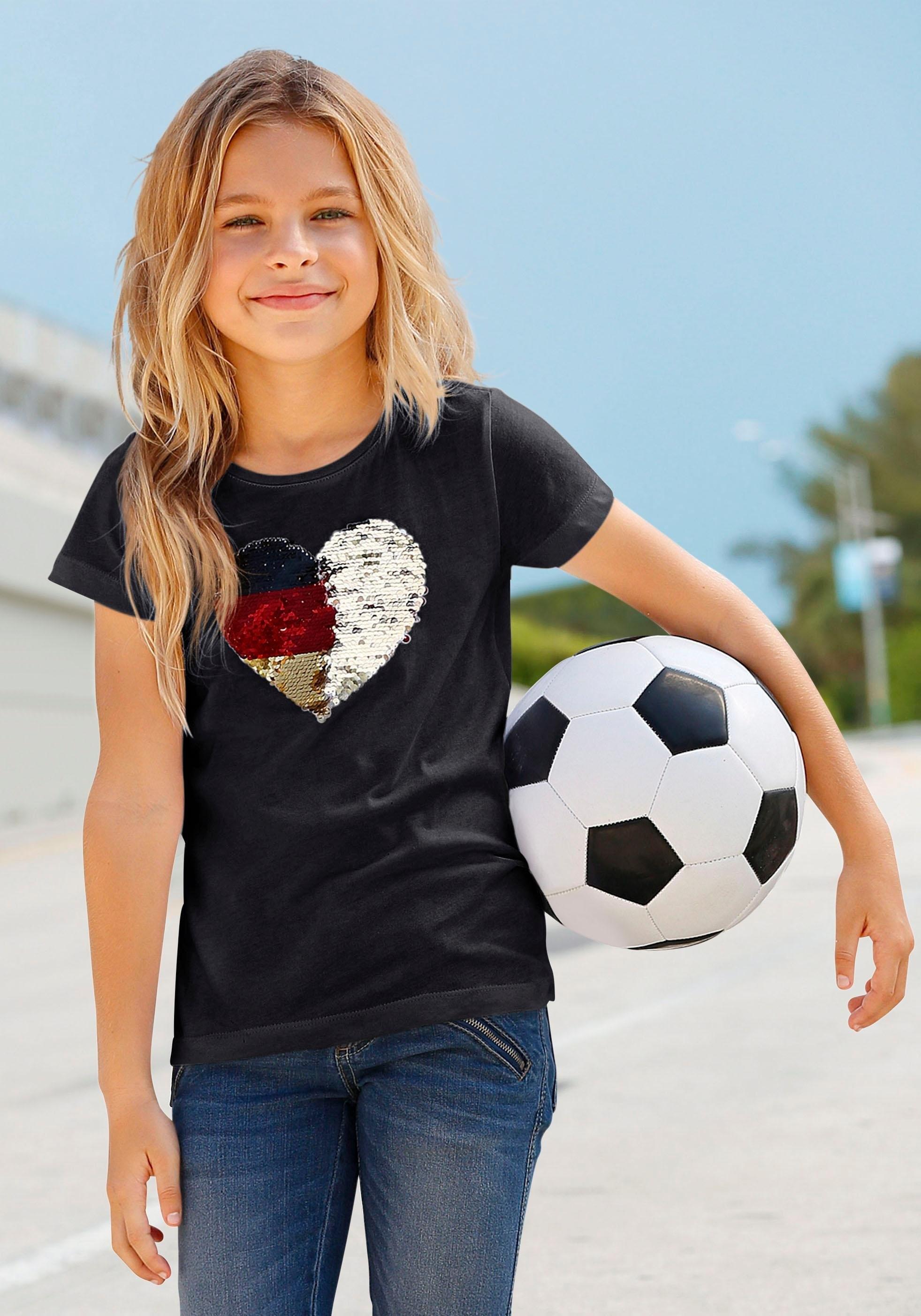 ARIZONA T-shirt »Fußballshirt« bestellen: 30 dagen bedenktijd
