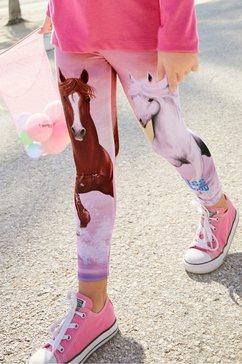 miss melody legging met mooi paardenmotief multicolor