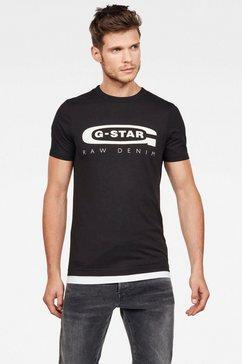 g-star raw shirt met ronde hals »graphic 4« zwart