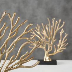 boltze decoratief figuur »coral« goud